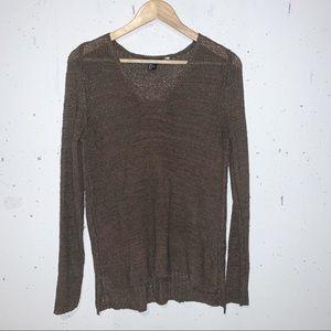 H&M Lightweight Brown Sweater Long Women's Size Medium